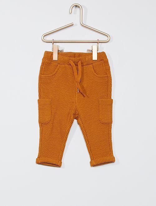Pantalon en molleton fantaisie                                                     jaune moutarde