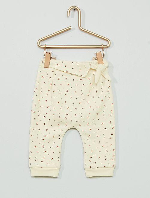 Pantalon en molleton fourré                                         BLANC