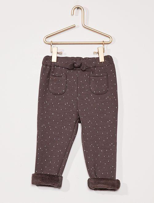 Pantalon en molleton fourré                                         gris foncé