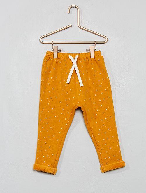 Pantalon en molleton fourré                                                                 jaune