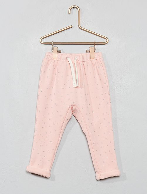 Pantalon en molleton fourré                                                                 rose
