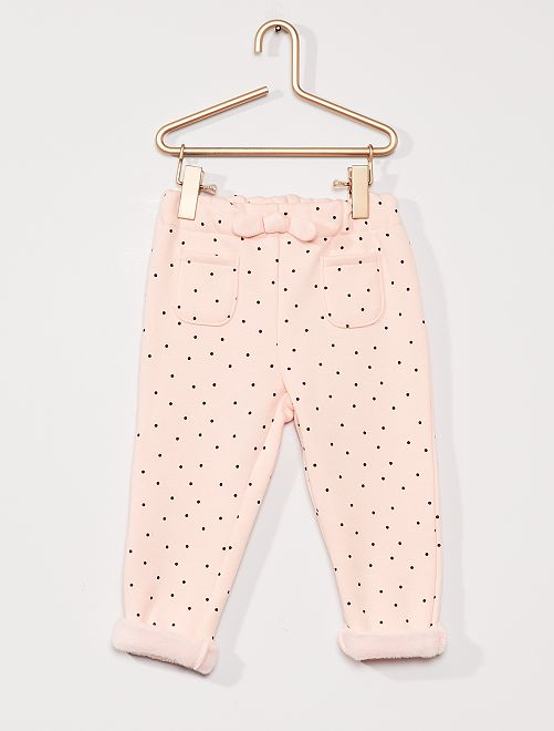 Pantalon en molleton fourré                                                     rose