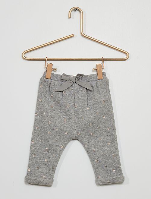 Pantalon en molleton                                                                 gris