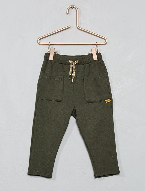 Pantalon en molleton                             kaki