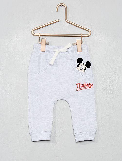 Pantalon en molleton 'Mickey'                                         gris