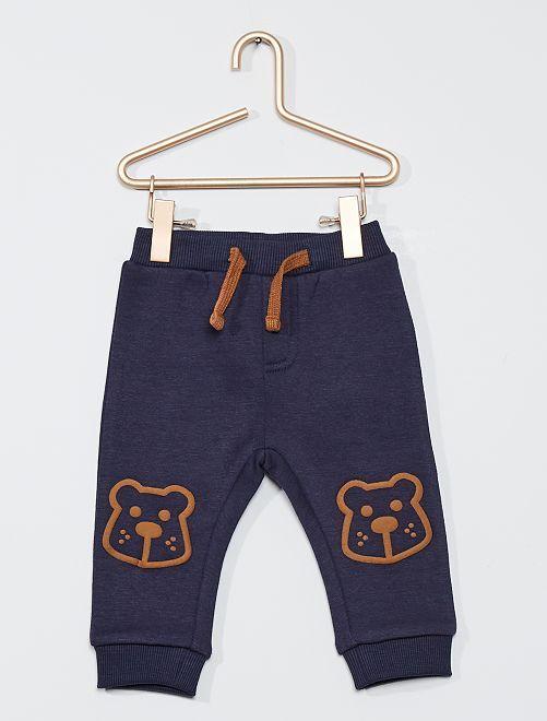 Pantalon en molleton 'ours'                                                     bleu marine