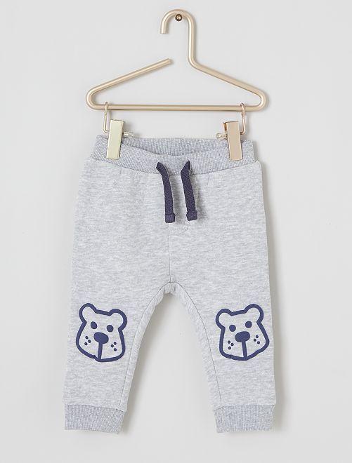 Pantalon en molleton 'ours'                                                     gris