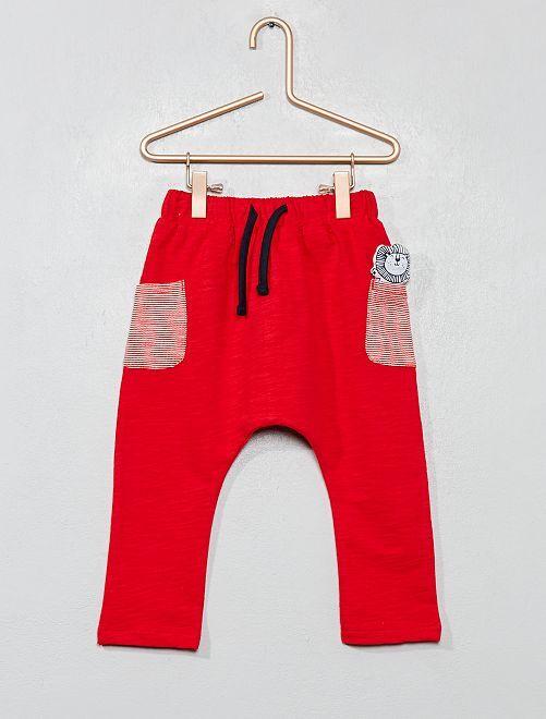 Pantalon en molleton poche animée                                                     rouge Bébé garçon