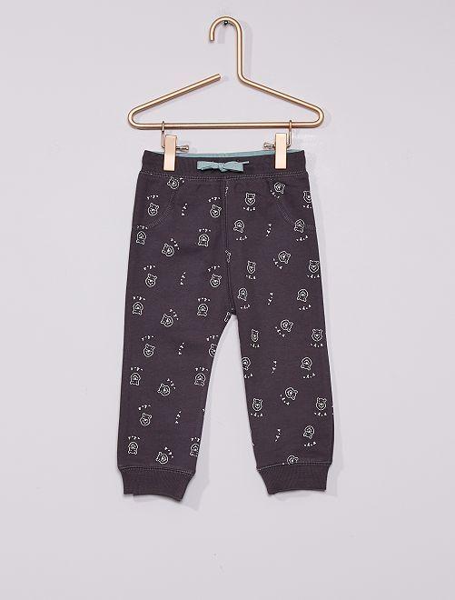Pantalon en molleton 'Winnie' éco-conçu                             gris