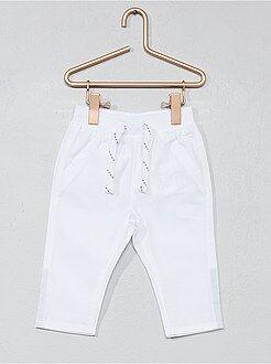 Pantalon, jean, legging - Pantalon en popeline pur coton - Kiabi