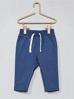 Garçon 0-36 mois - Pantalon en popeline pur coton - Kiabi