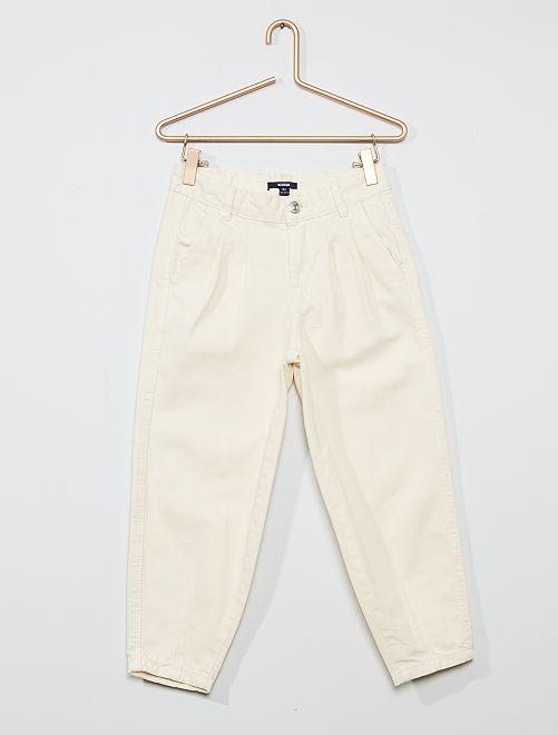 Pantalon en pur coton                                         blanc
