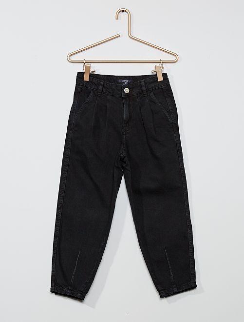 Pantalon en pur coton                                         noir
