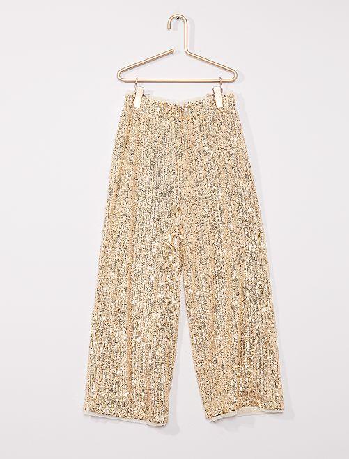 Pantalon en sequins                                                     JAUNE