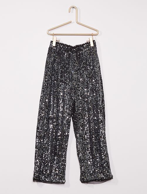 Pantalon en sequins                                                     noir