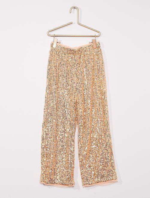 Pantalon en sequins                                                     ROSE