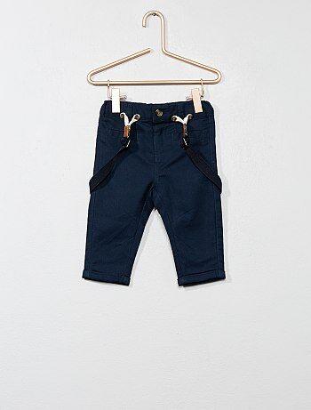 Garçon 0-36 mois - Pantalon en twill avec bretelles - Kiabi