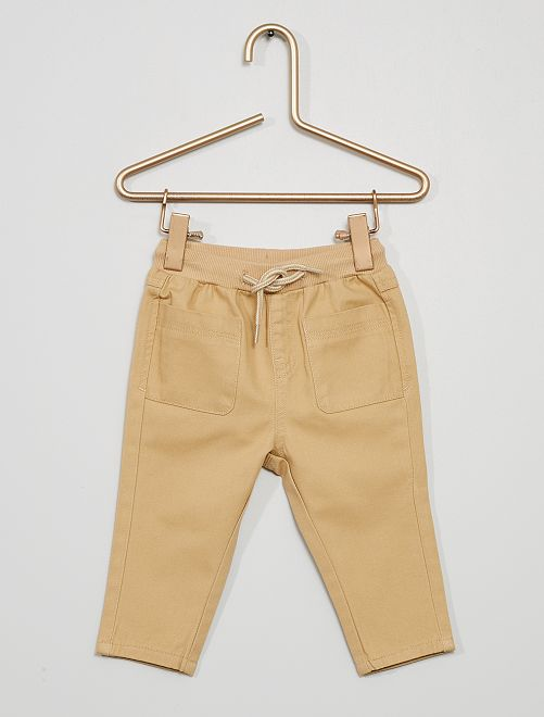 Pantalon en twill                                                                             beige