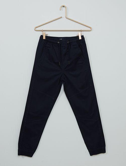 Pantalon en twill                                                                 bleu marine