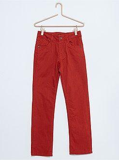 Garçon 4-12 ans Pantalon en twill coupe droite