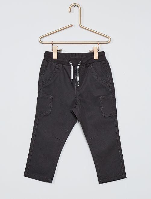 Pantalon en twill de coton                                                                                         gris foncé