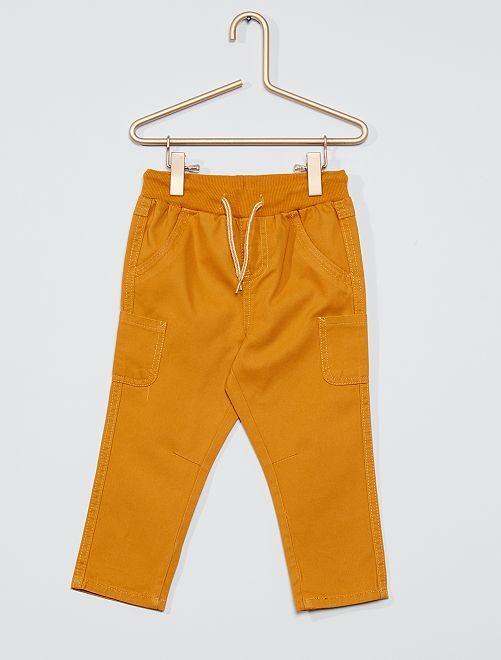 Pantalon en twill de coton                                                                                         jaune moutarde