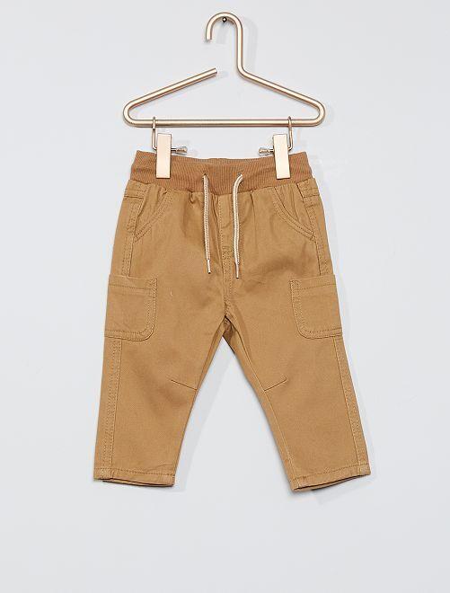 Pantalon en twill éco-conçu                                                                                                                 beige