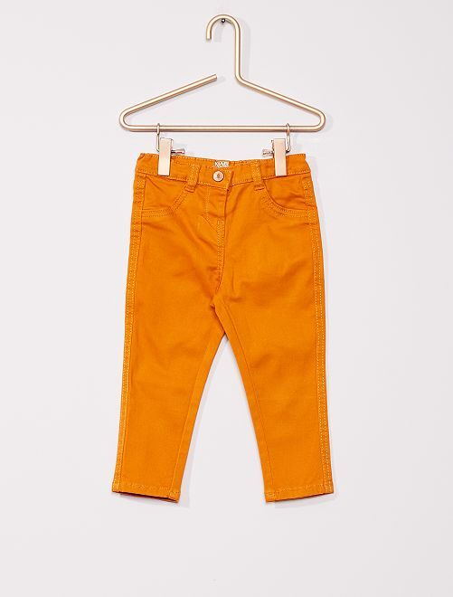 Pantalon en twill éco-conçu                                                     orange
