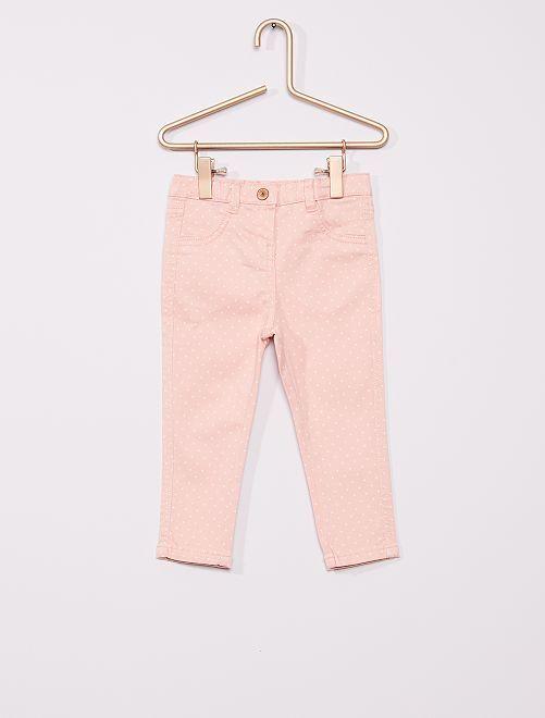 Pantalon en twill éco-conçu                                                                 rose