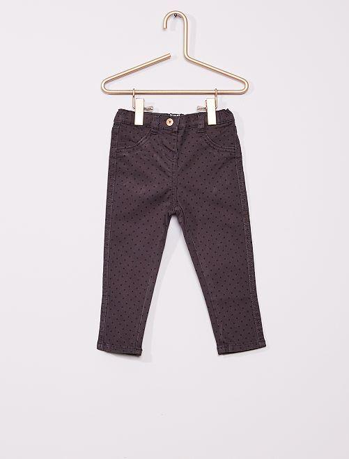 Pantalon en twill éco-conçu                                                                 taupe