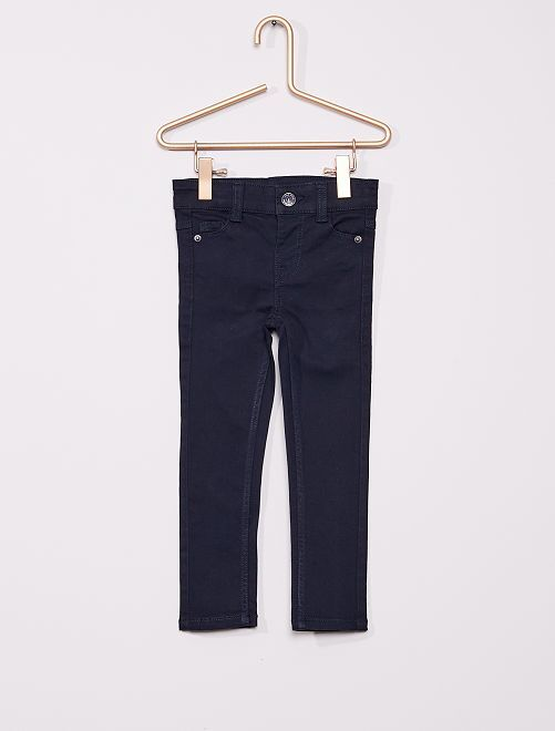 Pantalon en twill enfant fin                             bleu marine