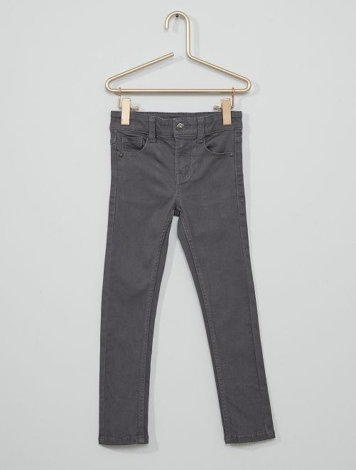 Pantalon en twill enfant fin                                                                                         gris foncé
