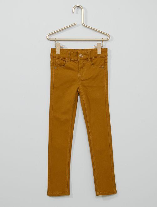 Pantalon en twill enfant fin                                                                                         jaune moutarde