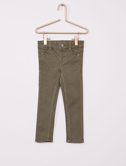 Pantalon en twill enfant fin                                                                                         kaki