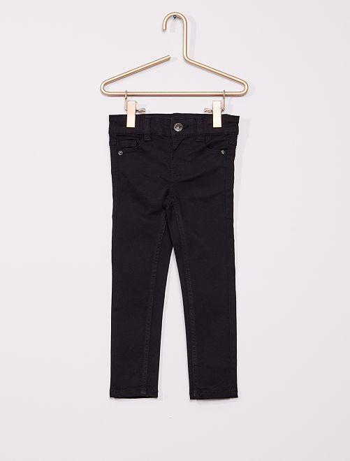 Pantalon en twill enfant fin                                                                                         noir