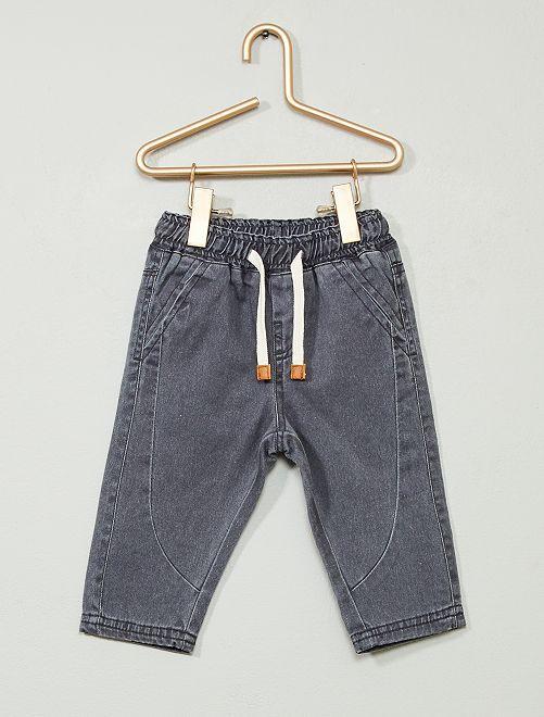 Pantalon en twill                                                     gris