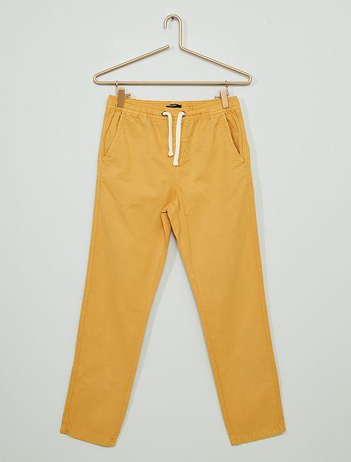 Pantalon en twill                                                                 jaune