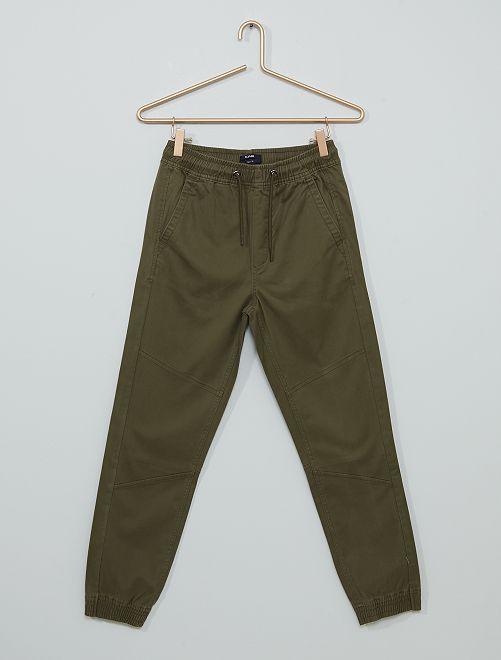 Pantalon en twill                                                                 kaki