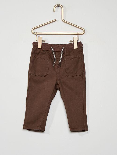 Pantalon en twill                                                                             marron