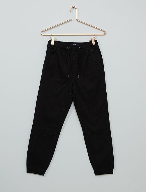 Pantalon en twill                                                                 noir