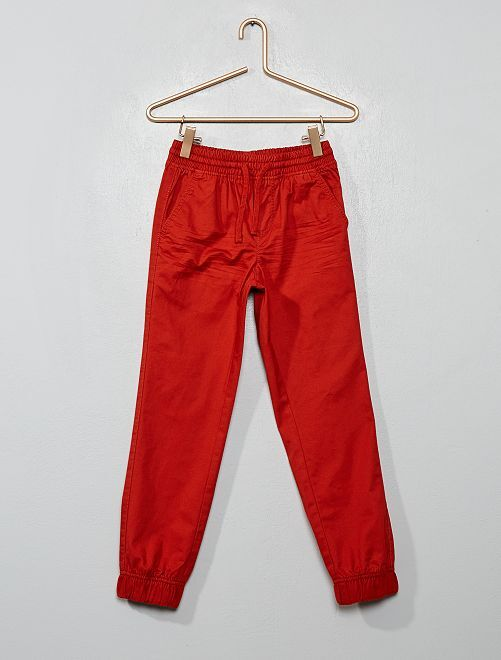 Pantalon en twill                                                                 orange ketchup
