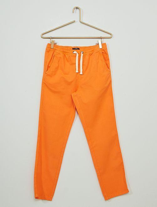 Pantalon en twill                                                                 orange