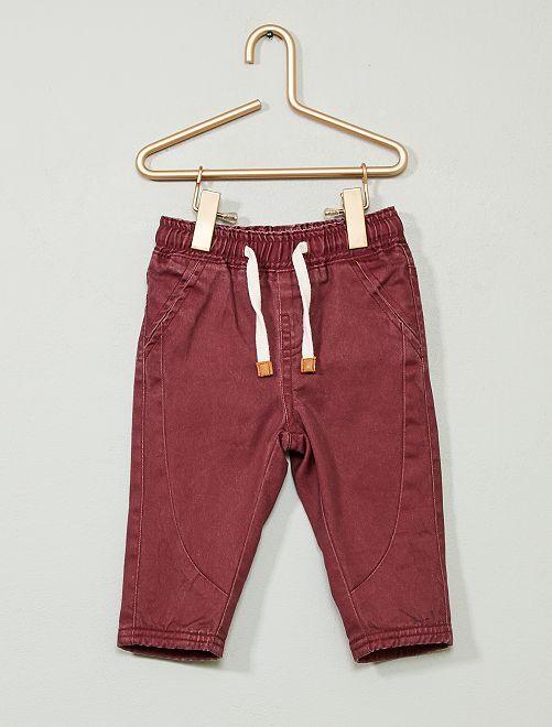 Pantalon en twill                                                     rouge