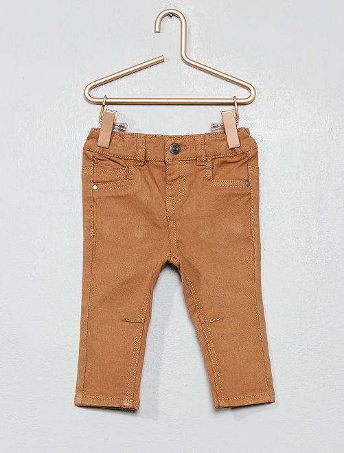 Pantalon en twill slim                                                                             beige