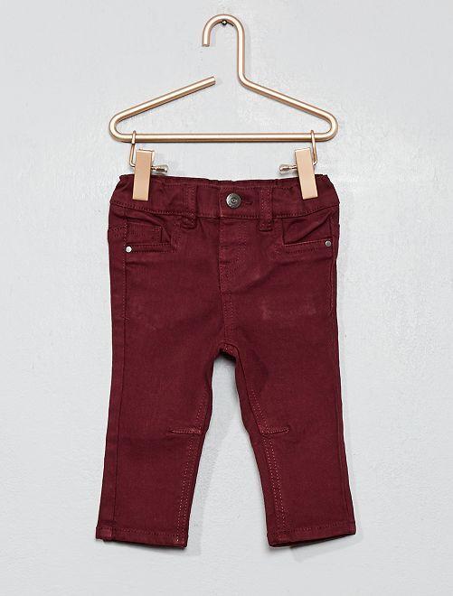 Pantalon en twill slim                                                                             rouge