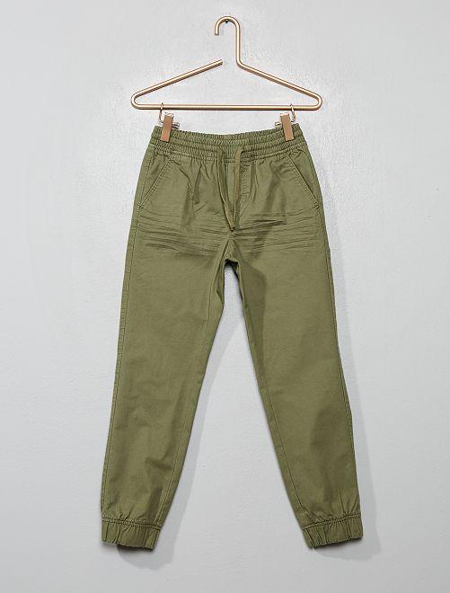 Pantalon en twill                                                                             vert lichen