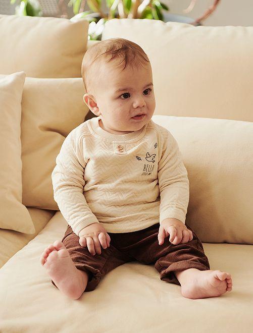 Pantalon en velours                             brun foncé