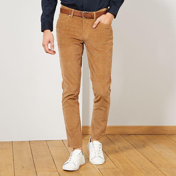 Pantalon en velours côtelé Homme - beige