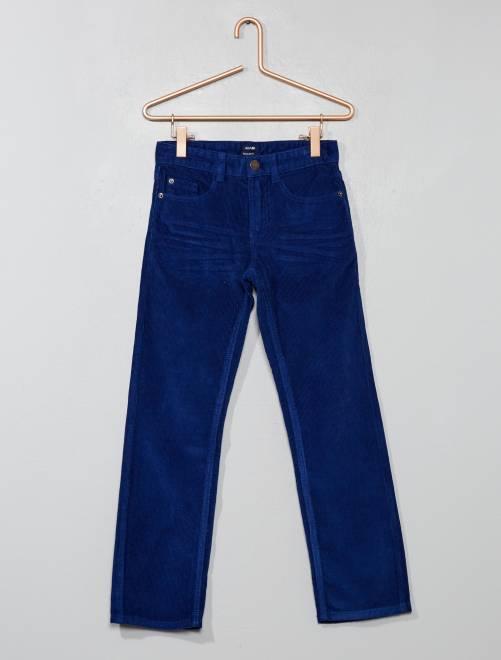 Pantalon en velours côtelé                                                                                         bleu foncé Garçon
