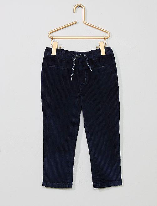 Pantalon en velours côtelé                                         bleu marine